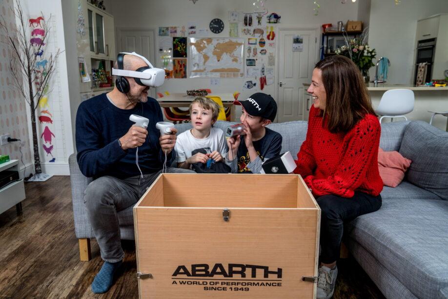 Abarth zeigt, wie ein Testlaufwerk auch während der Sperrung erfolgen kann